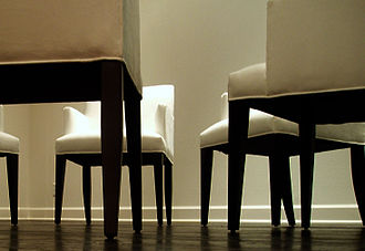 Exposure (photography) - White chair: Deliberate use of overexposure for aesthetic purposes.