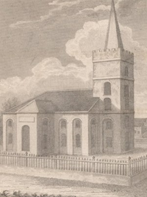 St. John's Cathedral (Belize City) - St. John's Church in 1825