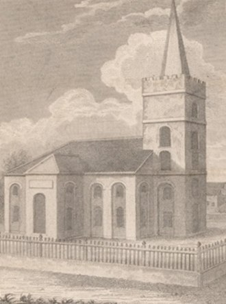 St. John's Cathedral (Belize City) - St. John's Church in 1825