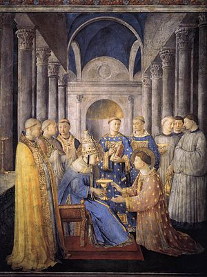 St Peter Consecrates St Lawrence as Deacon