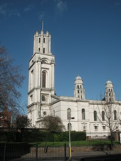 St George in the East Church in London Borough of Tower Hamlets, United Kingdom