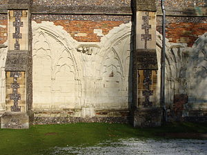 St Albans Cathedral - Remains of the cathedral's cloisters.