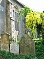 St Andrew's church - headstones by south porch - geograph.org.uk - 802473.jpg