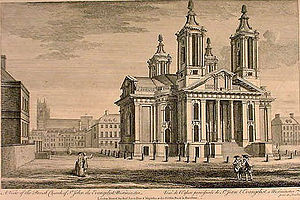 St John's, Smith Square - St John's, Smith Square in the 18th century