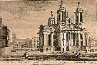 St John's, Smith Square - St John's, Smith Square in the 18th century