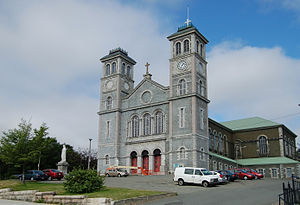 Architecture of St. John's, Newfoundland and Labrador - Facade of the Basilica of St. John the Baptist