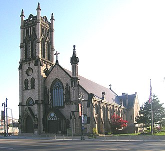 Downtown Detroit - St. John's Episcopal Church on Woodward Avenue near Grand Circus