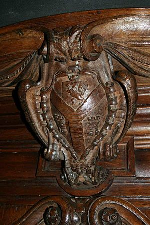 Sir David Cunningham, 1st Baronet, of Auchinhervie - Arms of Sir David Cunningham at St Lukes, Charlton