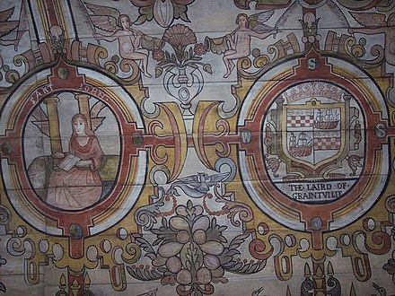 St Mary's Chapel, Grandtully - Painted Ceiling St Mary's Chapel, Grandtully - Painted Ceiling - geograph.org.uk - 406590.jpg