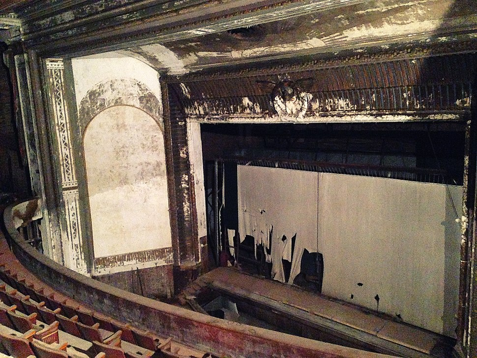 Stage of the Victory Theater, Holyoke, Massachusetts (April 2018)