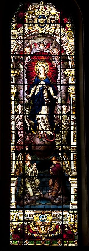 Cathedral Basilica of the Immaculate Conception (Mobile, Alabama) - Window depicting the Immaculate Conception
