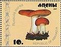 Stamp of Abkhazia - 2007 - Colnect 1008491 - Russula aurea.jpeg