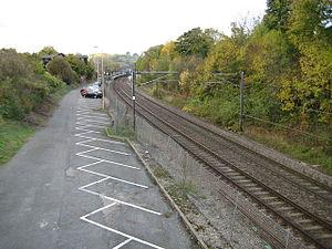 Stansted Mountfitchet railway station - Image: Stansted Mountfitchet railway station car park in 2008