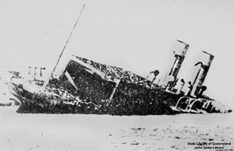 HMS Ben-my-Chree - HMS Ben-my-Chree sinking