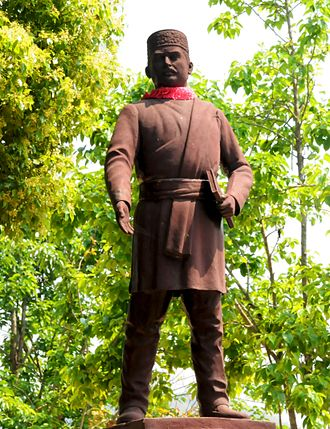 Bhanubhakta Acharya - A Statue of Bhanubhakta Acharya at his birthplace Chundi Ramgha, Tanahun District Nepal