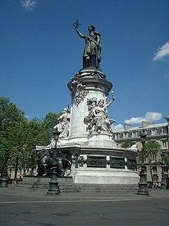 Place de la République square in Paris, France