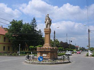 Jimbolia - Image: Statuia Sf. Florian Jimbolia