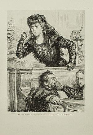 Marguerite Steinheil - Mme Steinheil and her lawyer by Antony Aubin
