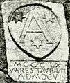Stemma sulla porta del Castelletto di Vignoni (prima del 1966)(San Quirico d'Orcia) Siena (particolare).jpg