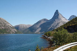 Tysfjord - Stetind mountain and the fjord