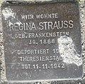 Stolperstein Lüdinghausen Olfener Straße 10 Regina Strauss.jpg