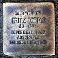 Stolperstein Ritterlandweg 40 (Gesbr) Fritz Abraham Tobias.jpg
