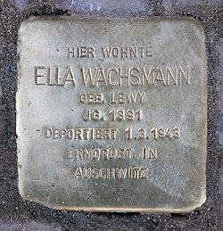 Photo of Ella Wachsmann brass plaque