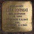 Stolperstein Westfälische Str 70 (Halsee) Elsa Borinski.jpg