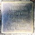 Stolperstein Wilhelmshöher Str 17 (Fried) Erika von Brockdorff.jpg