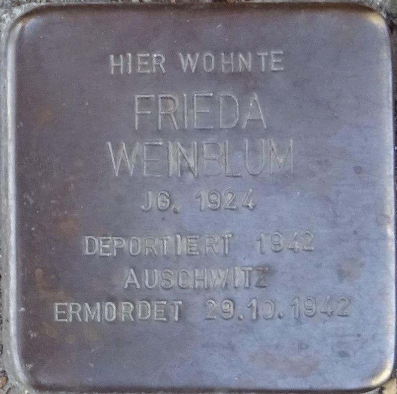 Stolpersteine Alsdorf Frieda Weinblum Robert-Koch-Strasse 29.jpg