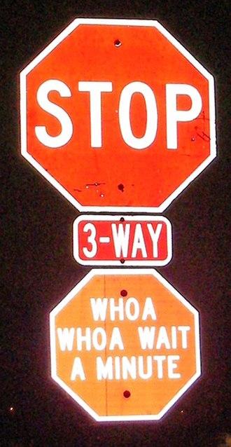 Oak Lawn, Illinois - A former Oak Lawn stop sign