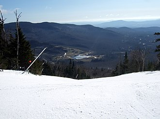 Stowe Mountain Resort - View to the east from Mt. Mansfield