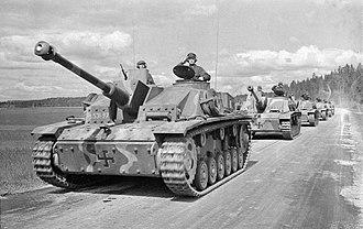 Battle of Tali-Ihantala - Finnish StuG III Ausf. G assault guns.