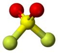 Ball-and-stick model of sulfuryl fluoride