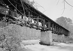 Sulphite Railroad Bridge, Former Boston & Maine Railroad (originally Tilton , Franklin (Merrimack County, New Hampshire).jpg