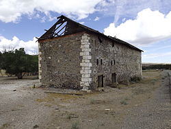 The abandoned mine office in Sulphurdale