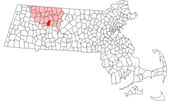 Location in Franklin County in Massachusetts