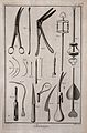 Surgery; an assortment of surgical instruments, including a Wellcome V0016283EL.jpg