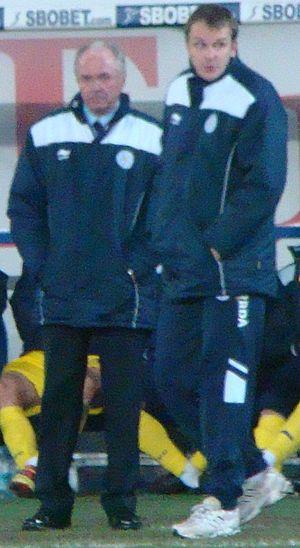 Dietmar Hamann - Hamann (right) as first team coach of Leicester City, alongside Sven-Göran Eriksson