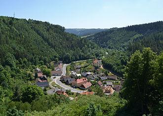 Svojanov - Svojanov as seen from the Svojanov Castle