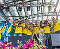 Sweden national under-21 football team celebrates in June 2015-9.jpg