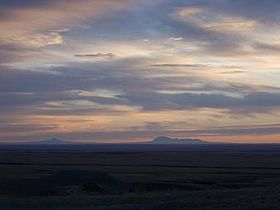 Sweetgrass Hills in Montana from Red Rock Coulee.JPG