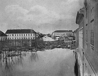 Szeged - Szeged during the flood of 1879