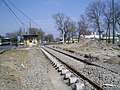Szeged 1-es villamos építése Rókusi forduló 2010-02-27.JPG