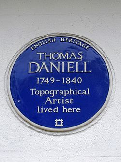 Thomas daniell 1749 1840 topographical artist lived here