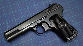 TT pistol - A Soviet-produced TT-33 pistol made in 1937