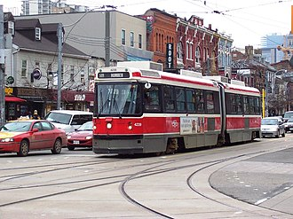 Urban Transportation Development Corporation - Image: TTC Bombardier ALRV 4239