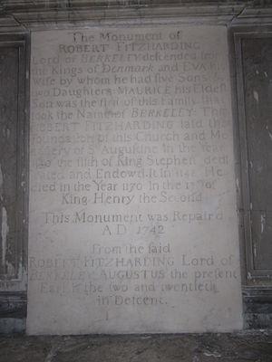Robert Fitzharding - Image: Tablet Robert Fitz Harding St Augustines Bristol