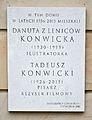 Tablica Danuta Konwicka Tadeusz Konwicki ul. Górskiego 1.jpg