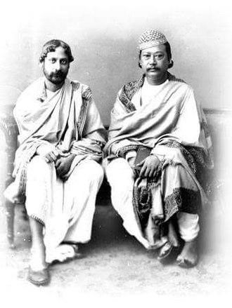 Radha Kishore Manikya - Image: Tagore and Raja Radha Kishore Manikya